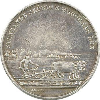 Suède, Charles XIV Bernadotte, prix d'agriculture, 1821