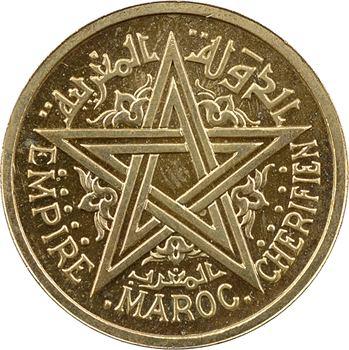 Maroc, Mohammed V, essai-piéfort de 1 franc, AH 1364 (1945) Paris