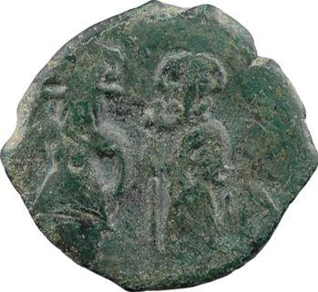 Justin II et Sophie, follis, Constantinople, 1re officine, An XI? = 575-578