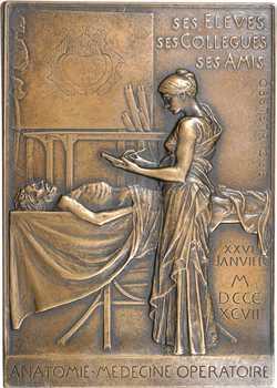 Roty (L.-O.) : Louis-Hubert Farabeuf, fonte de bronze, 1899 Paris