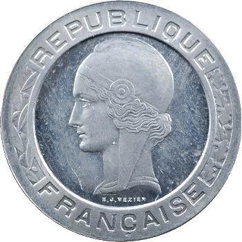 IIIe République, essai de 5 francs par Vézien, en aluminium, 1933 Paris