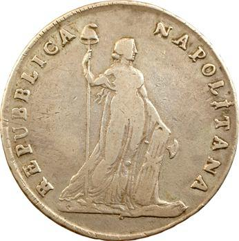 Italie, Naples (république de), 12 carlini, An VII (1799) Naples