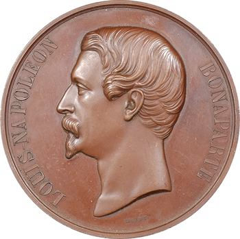 IIe République, Louis Napoléon Bonaparte, épreuve uniface par Caqué, s.d. Paris