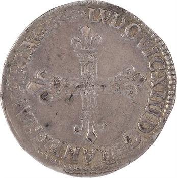 Louis XIII, quart d'écu, croix de face, 1643 Toulouse
