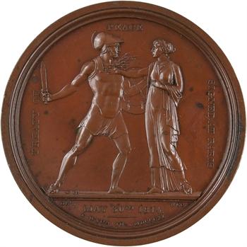 Russie/Royaume-Uni/France, Traité de Paix de Paris, par Desnoyers et Wyon, 1814