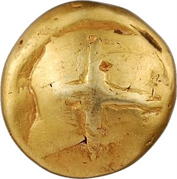 Sénons, statère globulaire à la croix en relief, IIe-Ier s. av. J.-C.