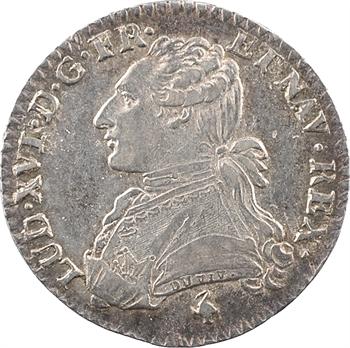 Louis XVI, dixième d'écu aux rameaux d'olivier, 1782 Paris