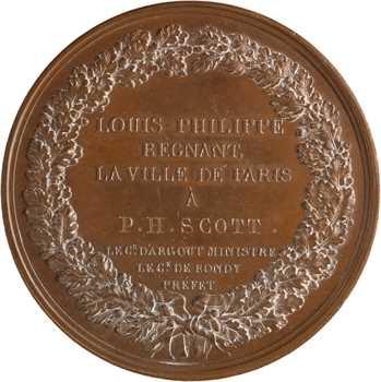 Louis-Philippe Ier, récompense pour générosité et dévouement, 1832 Paris