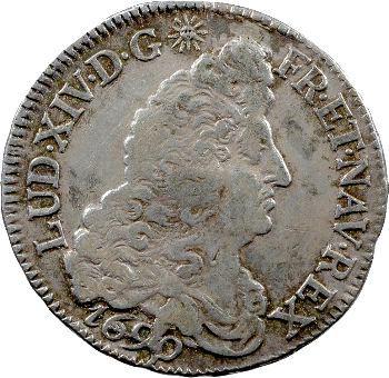 Louis XIV, demi écu aux huit L, 1er type, 1690 Dijon