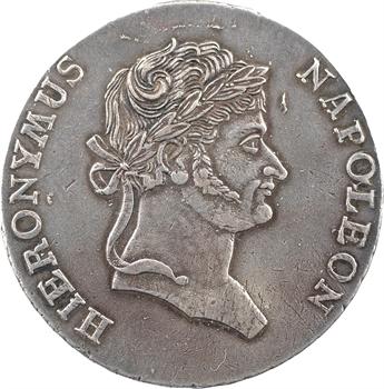 Allemagne, Westphalie (royaume de), Jérôme Napoléon, thaler de convention 3e type, 1813 Cassel