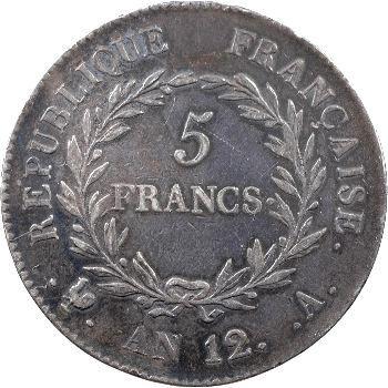 Consulat, 5 francs, An 12 Paris