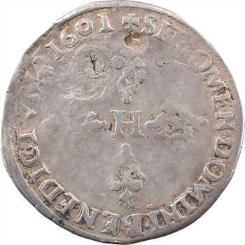 Henri IV, demi-franc, 1601 Troyes