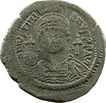 Justinien Ier, follis, Constantinople, 543-544