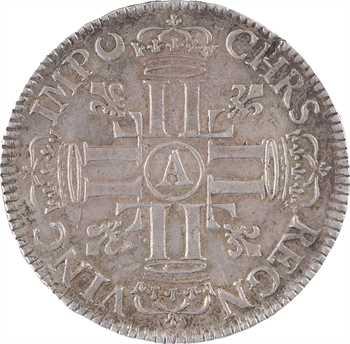Louis XIV, demi écu aux huit L, 1er type, flan neuf, 1691 Paris
