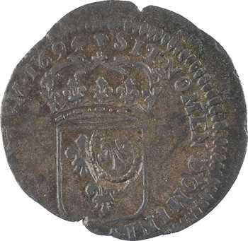 Louis XIV, quinzain aux huit L, surfrappe sur douzain d'un règne antérieur, 1694 La Rochelle