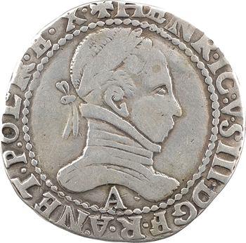 Henri III, franc au col plat, faux d'époque, 158- (Paris)