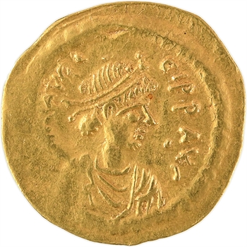 Maurice Tibère, semissis, Constantinople, 582-602