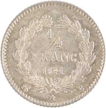 Louis-Philippe Ier, 1/4 franc, 1841 Rouen
