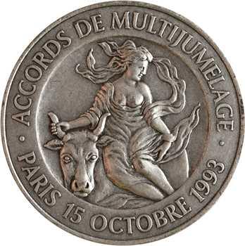 Ve République, accord de multijumelage des Notaires d'Europe, 1993 Paris