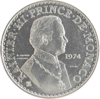 Monaco, Rainier III, essai de 50 francs en argent, 1974 Paris
