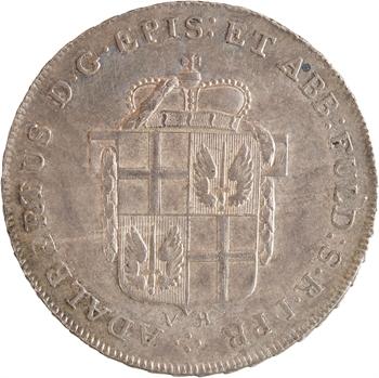 Allemagne, Fulda (abbaye de), Adalbert III, demi-thaler, 1796 Fulda