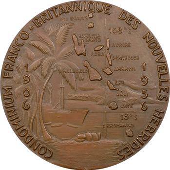 Nouvelles-Hébrides, médaille du condominium franco-britannique par Georges Guiraud, 1956 Paris