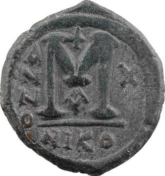 Justin II et Sophie, follis, Nicomédie, 1re officine, An X = 574-575