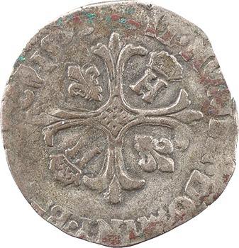 Henri IV, douzain aux 2 H couronnées 1er type, 1593 Bordeaux
