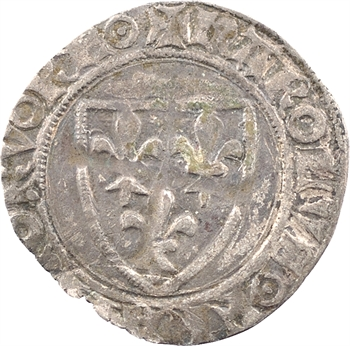 Charles VI, demi-guénar, 2e émission, Troyes