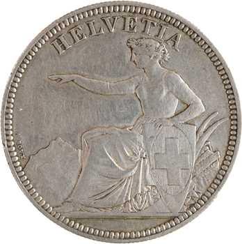 Suisse, Confédération helvétique, 5 francs, 1873 Berne