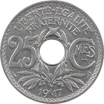 IIIe République, 25 centimes Lindauer, 1917 Paris
