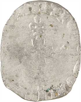 La Ligue au nom d'Henri III, double sol parisis, 2e type, 1591 Arles