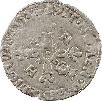 Henri II, douzain aux croissants du Dauphiné, 2e type, 1558 Grenoble
