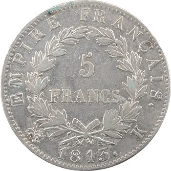 Premier Empire, 5 francs Empire, 1813 Bordeaux