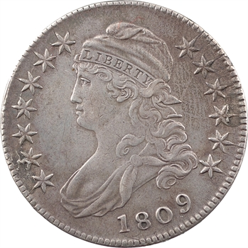 États-Unis, 50 cents ou demi-dollar Capped bust, 1809 Philadelphie