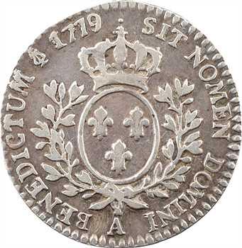 Louis XVI, dixième d'écu aux branches d'olivier, 1779/8, 2d semestre, Paris