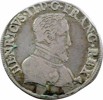 Henri II, demi-teston à la tête nue 1er type, 1553 Saint-Lô