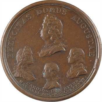 Louis XIV, la naissance duc de Berry, par Mauger, 1686 Paris