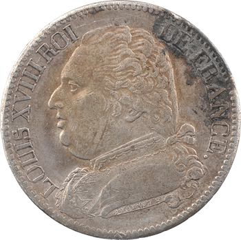 Louis XVIII, 5 francs buste habillé, 1815 Bayonne