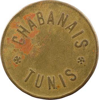 Tunisie, Tunis, jeton de maison close, Le Chabanais, 30 francs, s.d