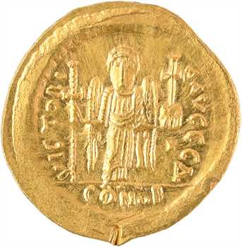 Justin Ier, solidus, Constantinople, 4e officine, 518-527