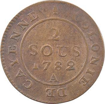 Guyane, Louis XVI, Cayenne, 2 sous, 1782 Paris