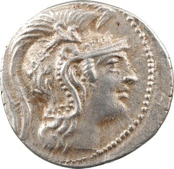 Attique, tétradrachme nouveau style, Athènes, c.124-123 av. J.-C.