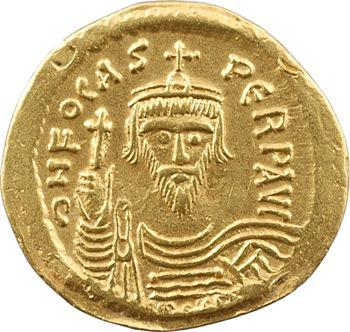 Phocas, solidus, Constantinople, 5e officine, 607-610