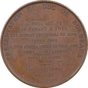 Duc de Bordeaux, présentation le 29 septembre, 1821 Paris