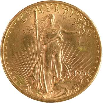 États-Unis, 20 dollars Saint-Gaudens, 1910 Denver