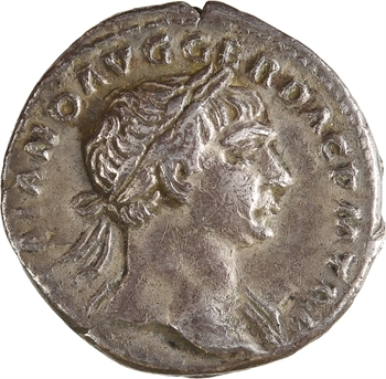 Trajan, denier, Rome, 107