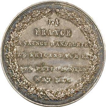 IIIe République, médaille politique, rétablissement de l'ordre, 1871 Paris
