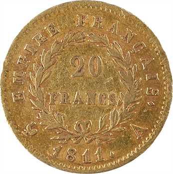 Premier Empire, 20 francs Empire, 1811 Paris