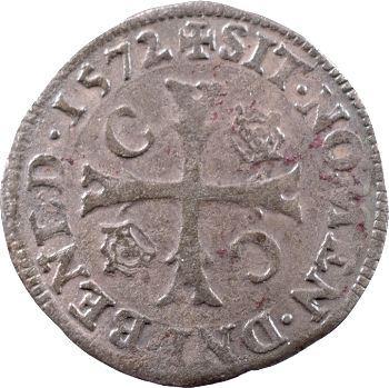 Charles IX, douzain aux 2 C couronnés, 1572 Poitiers
